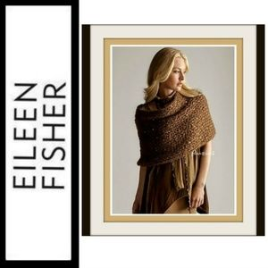 Eileen Fisher Infinity Scarf Mohair Sequins NWT